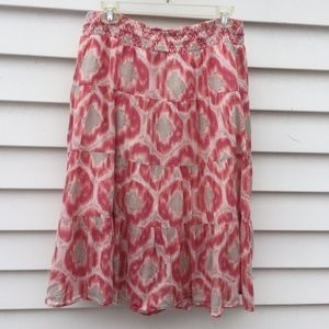 Old Navy Skirt Boho Midi Tie Dye Sz. L